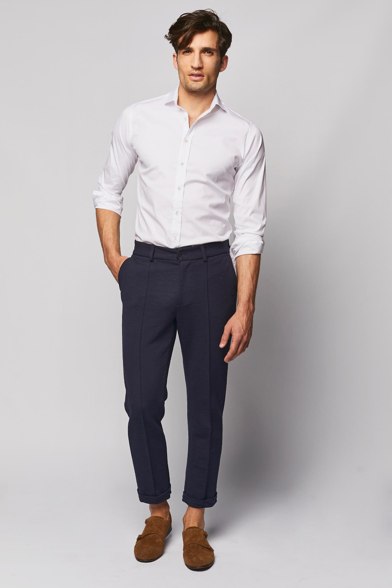 Navy Blue Cotton Trousers cover