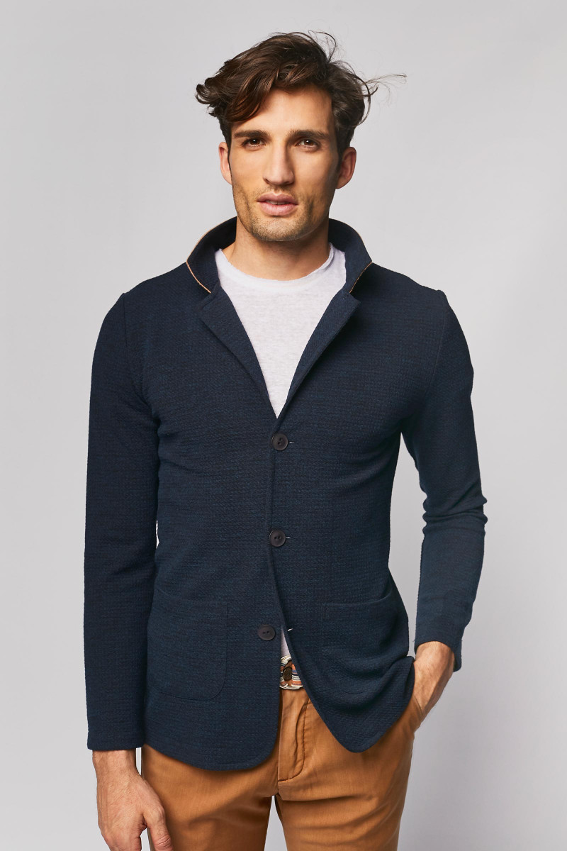 Navy Blue Casual Blazer cover