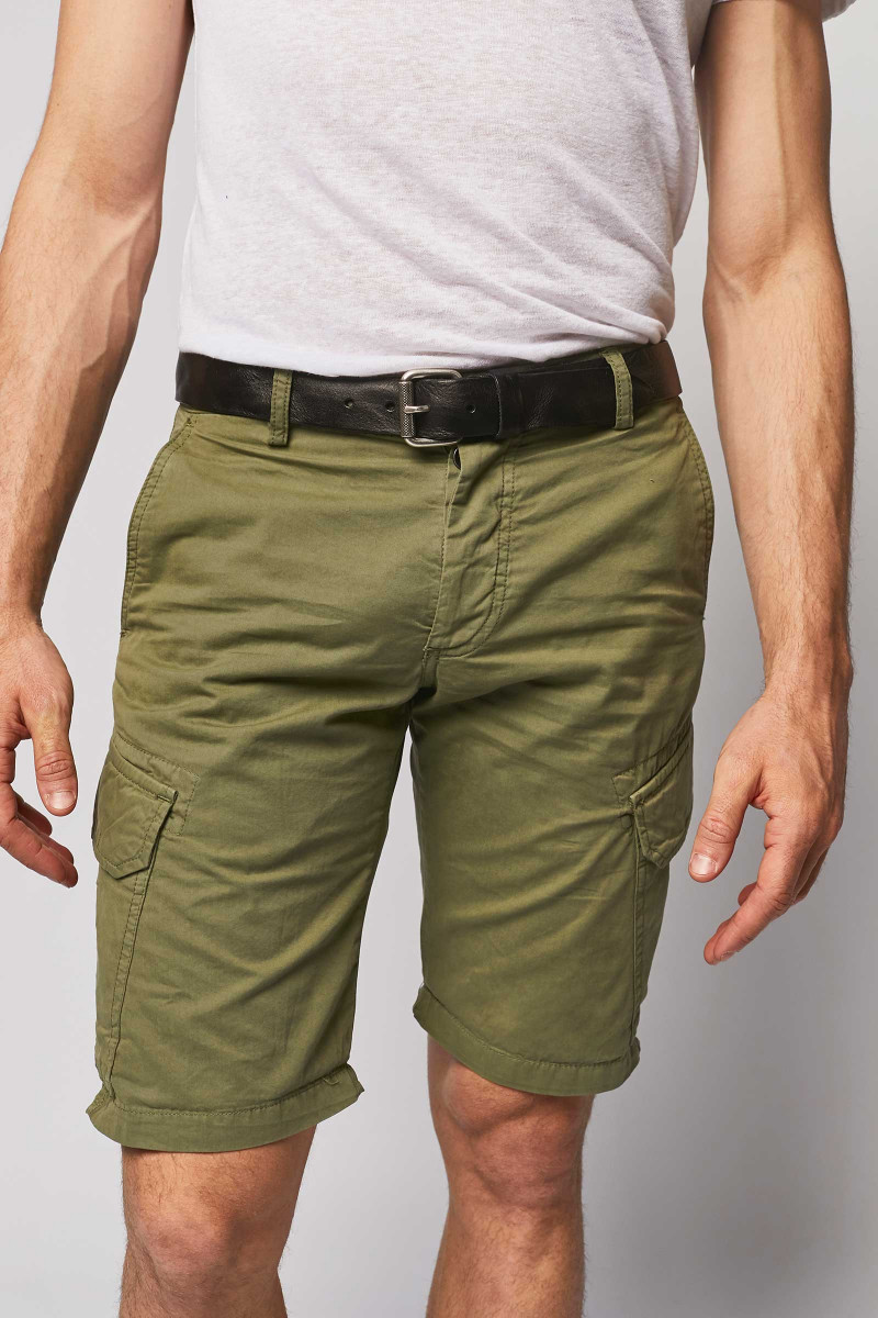 Bermuda Shorts With Side...