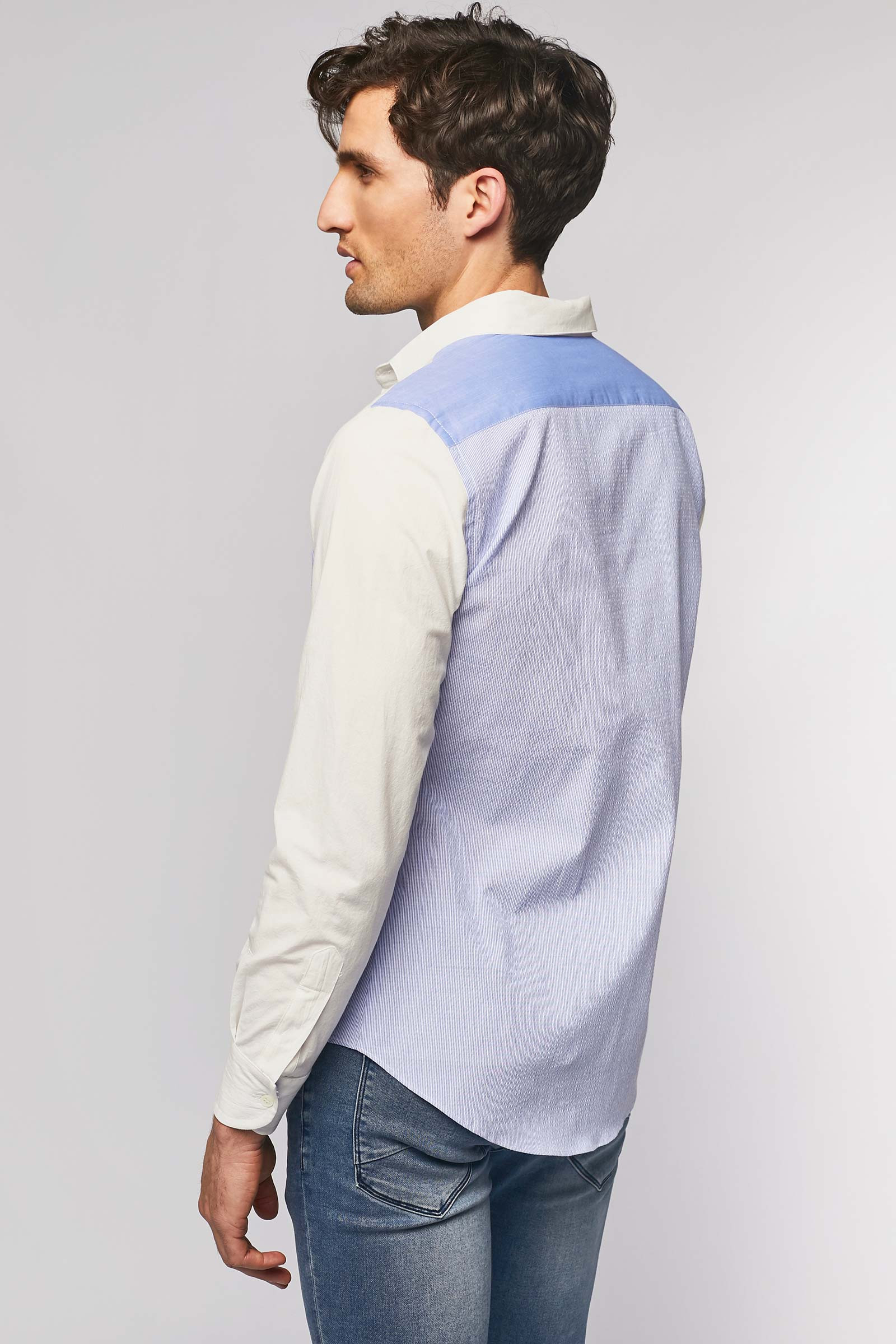Two-tone shirt back