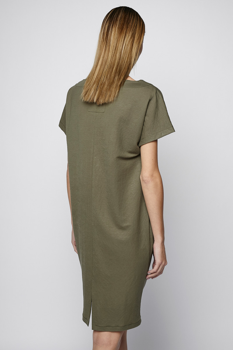 Army Green Short Sleeve Dress cover
