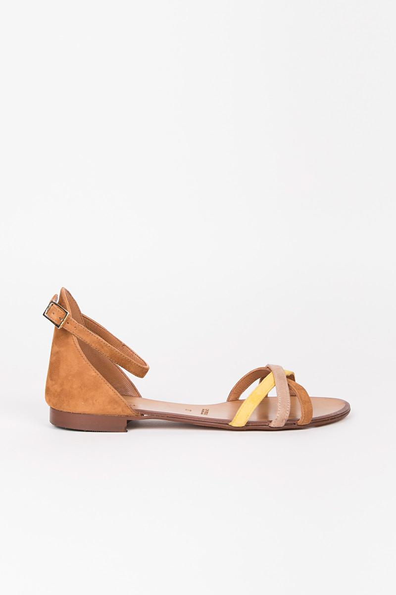 Earth Color Suede Sandals cover