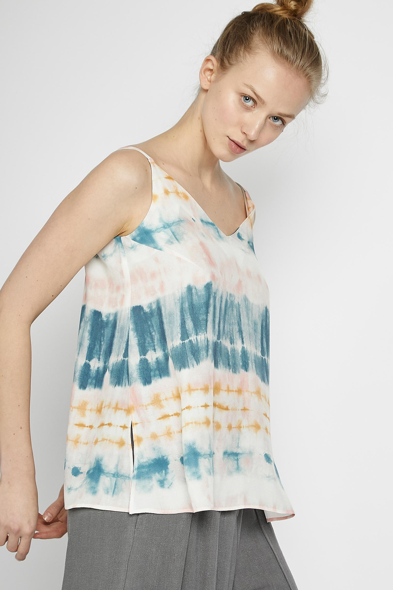 Tie-Dye Print Strappy Top cover