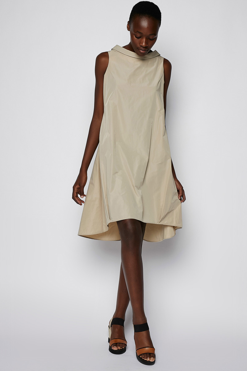 Beige Color Technological Dress cover