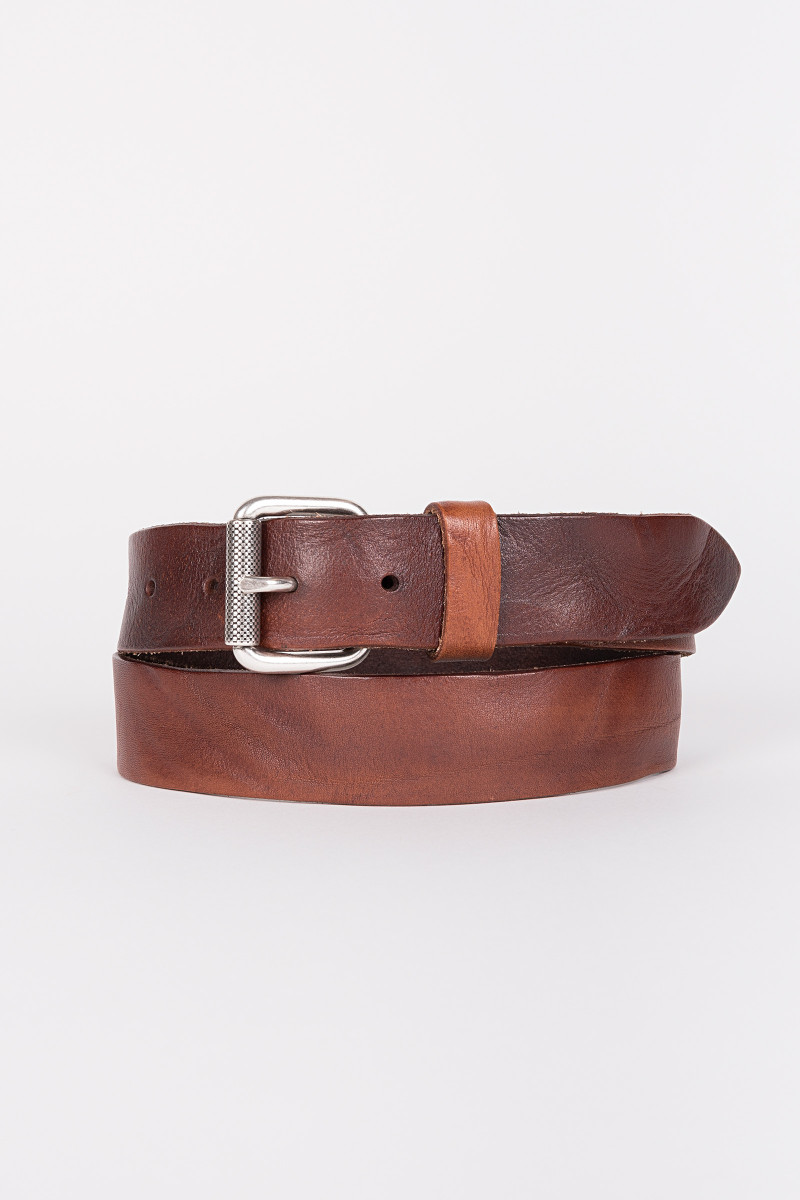 Brown Polished Leather Belt