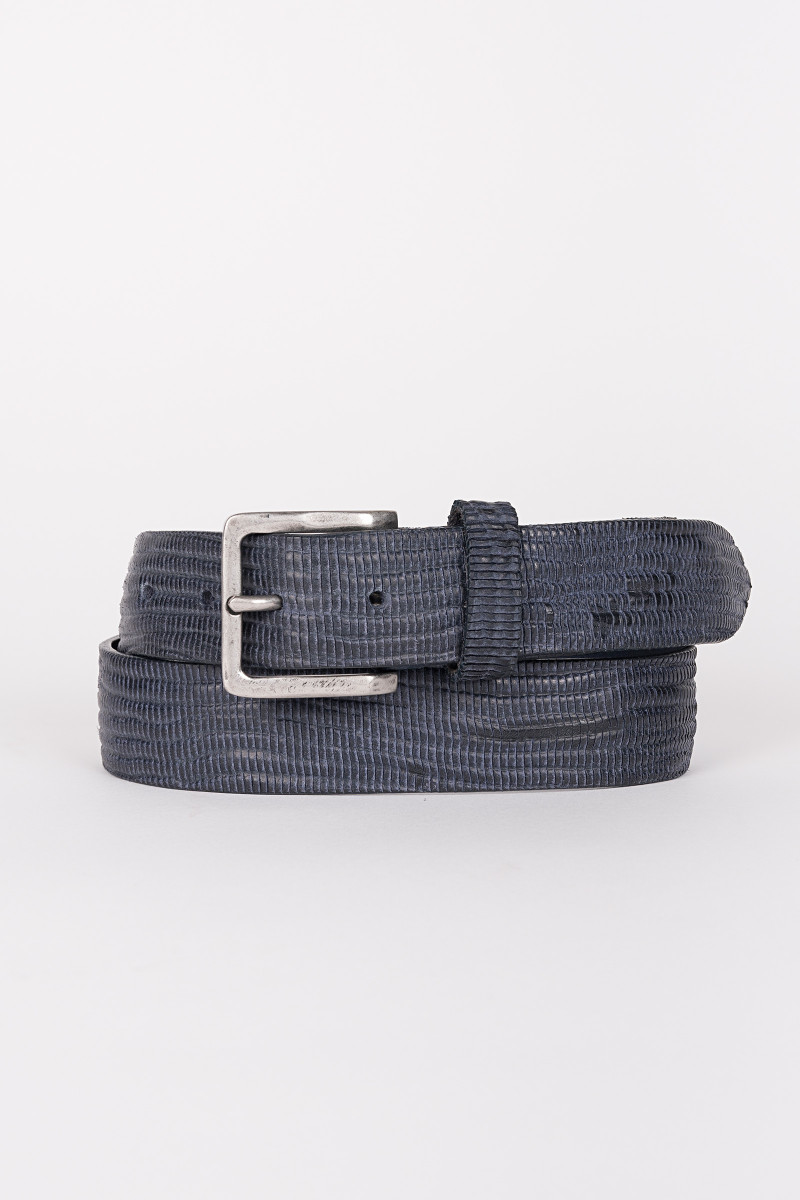 Blue Scaled Leather Belt cover