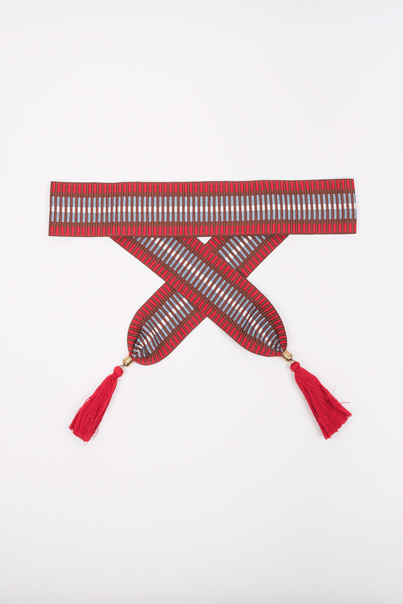 Red Tassels Belt cover