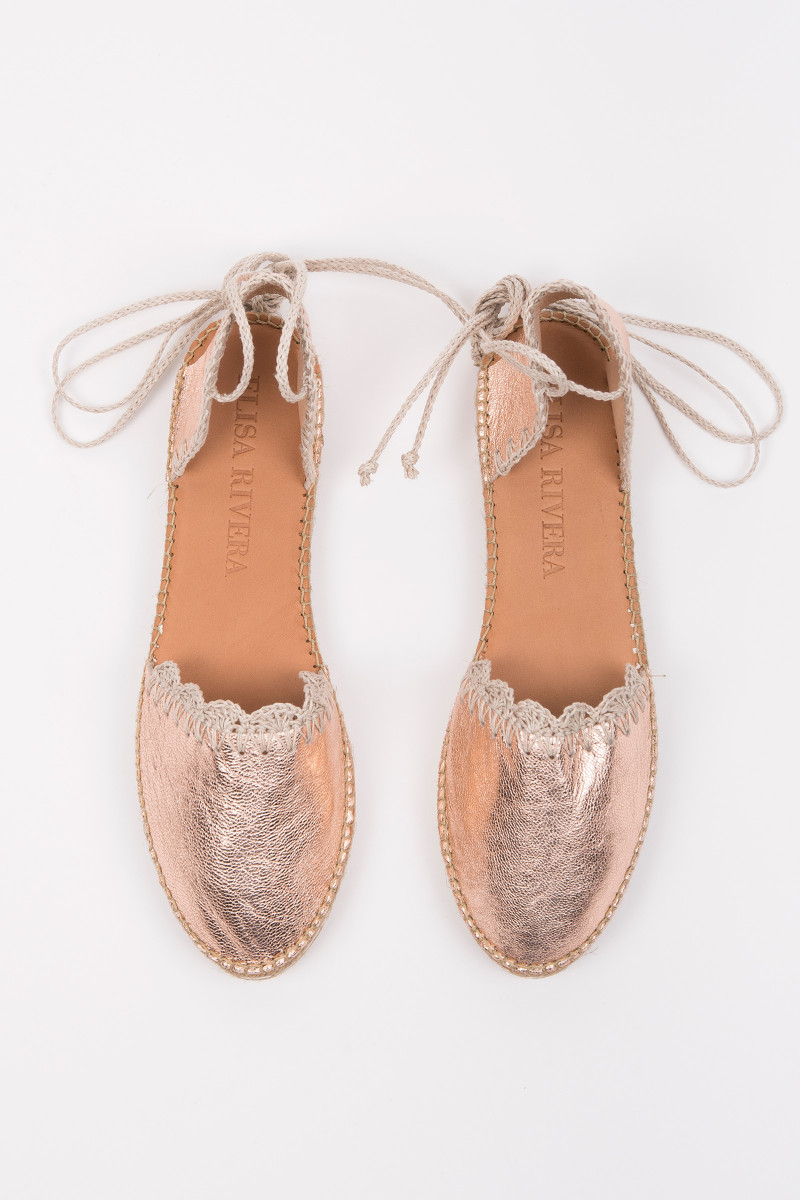 Pink Metallized Espadrilles cover