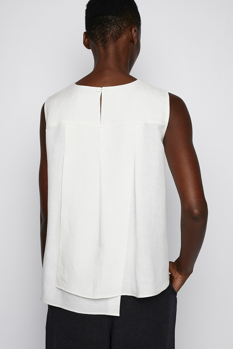 White Assymetrical Top cover