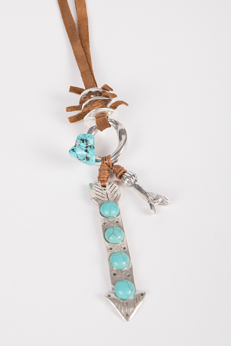 Long Arrow Necklace with Turquoises cover