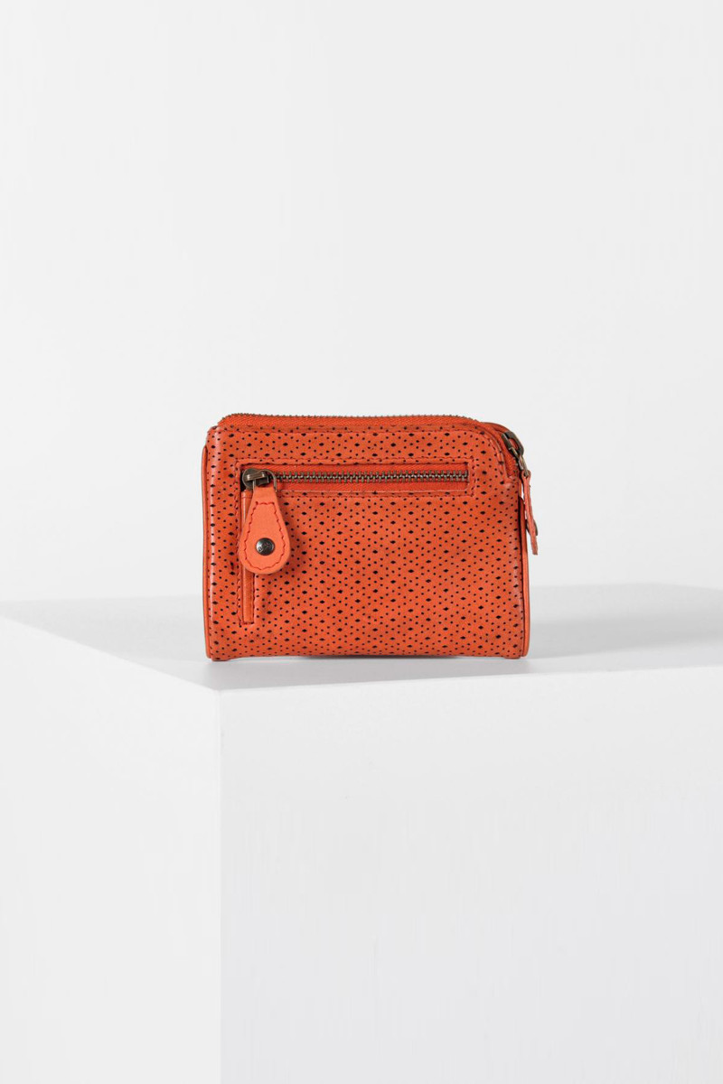 Orange Leather Joy Wallet cover
