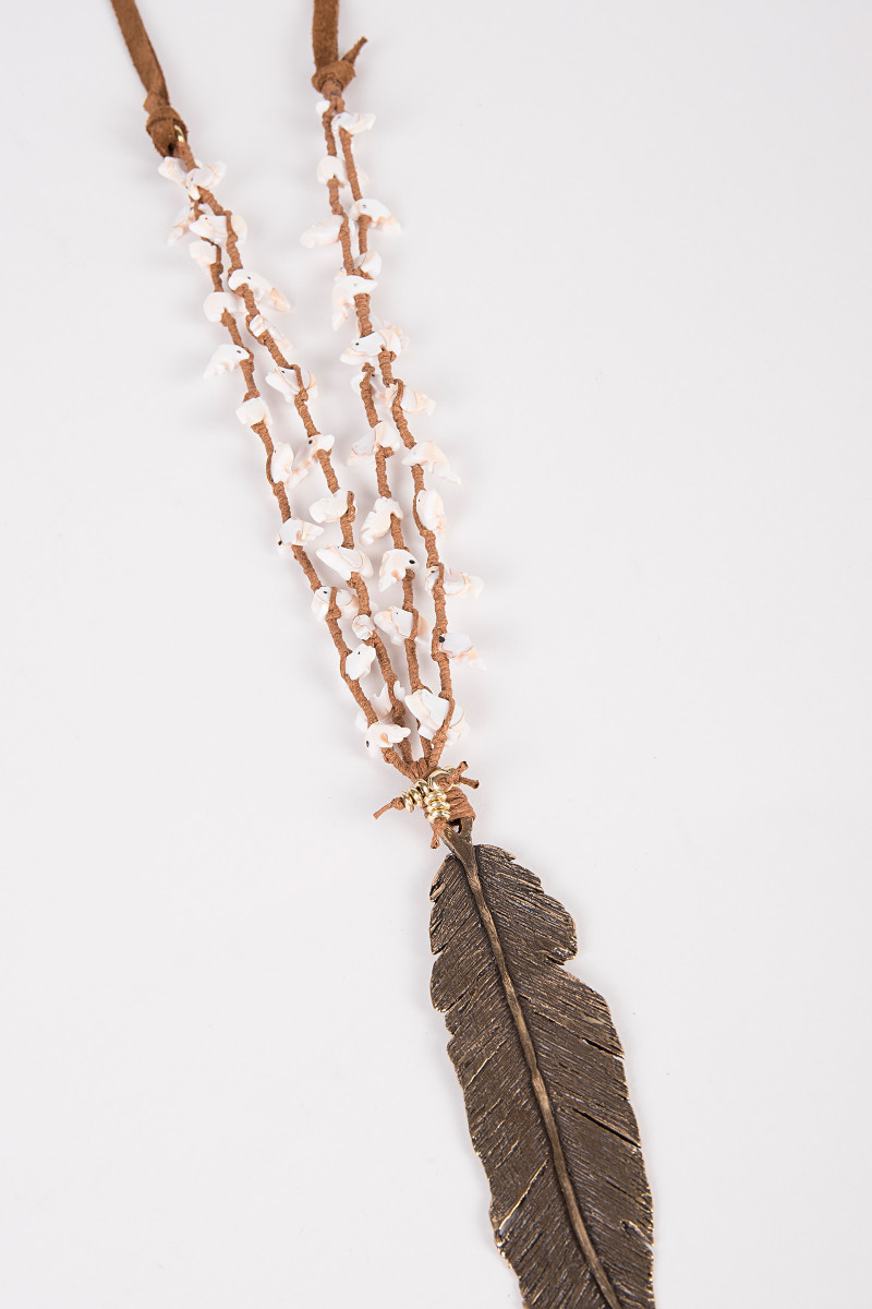 Bronze Feather Necklace cover