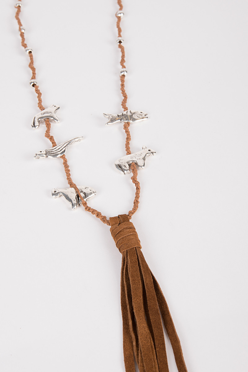 Suede Fringed Necklace cover