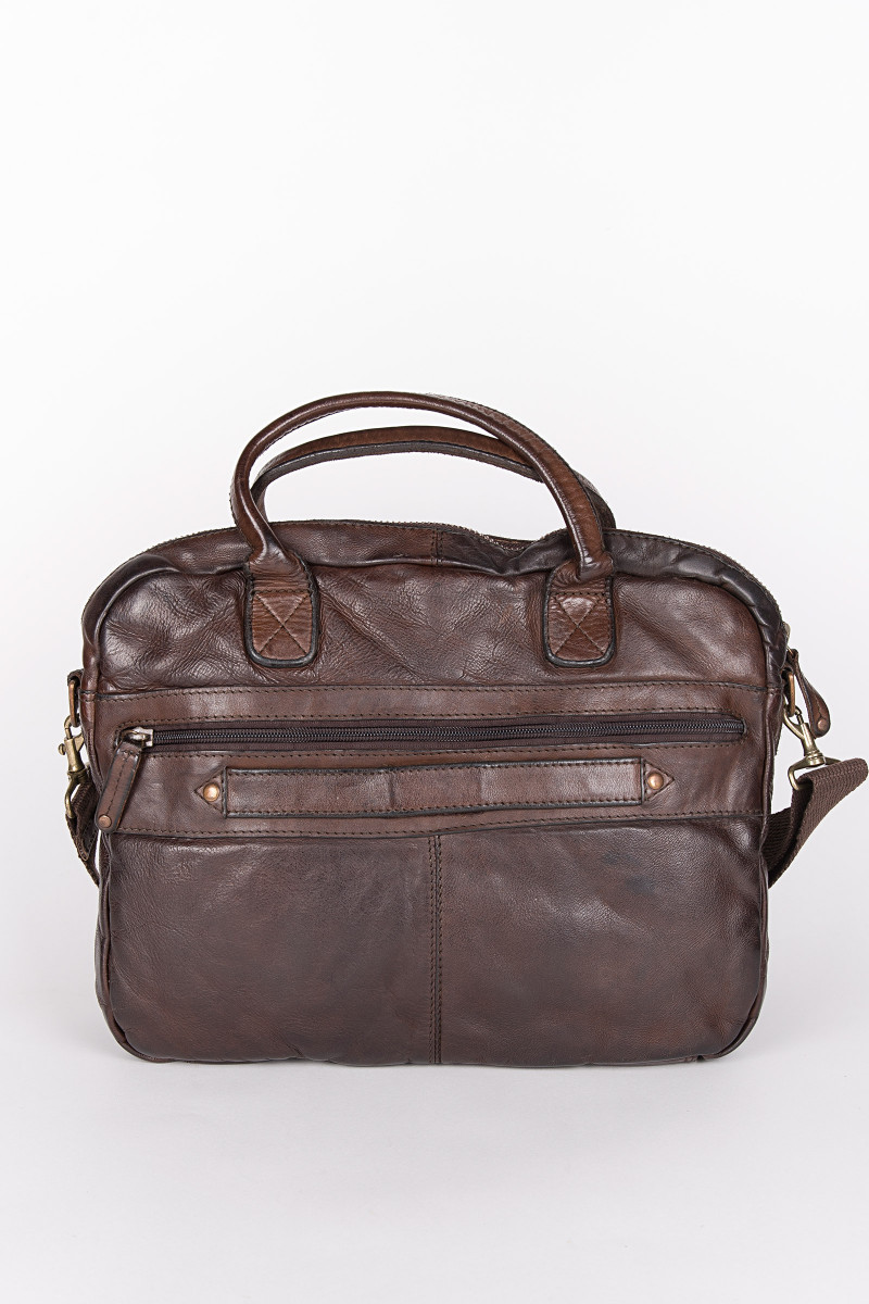 Dark Brown Oslo 003 Briefcase cover