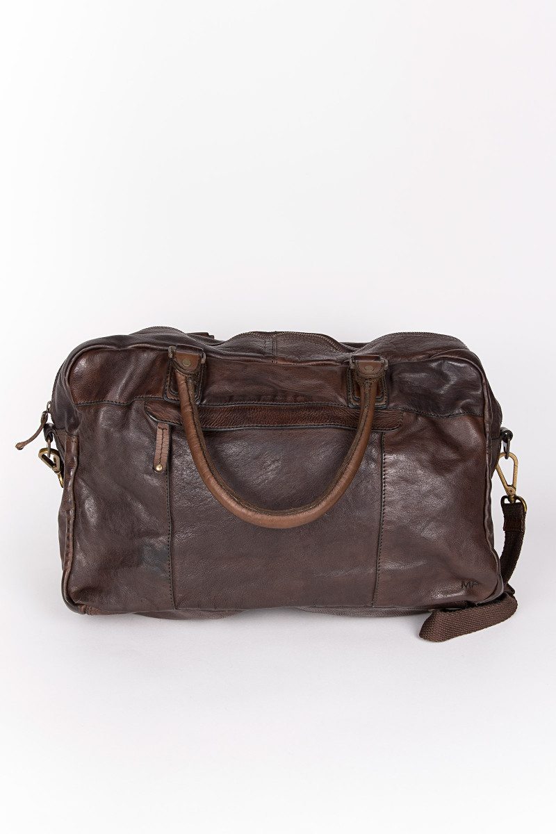 Dark Brown Travel Bag Oslo 010 back