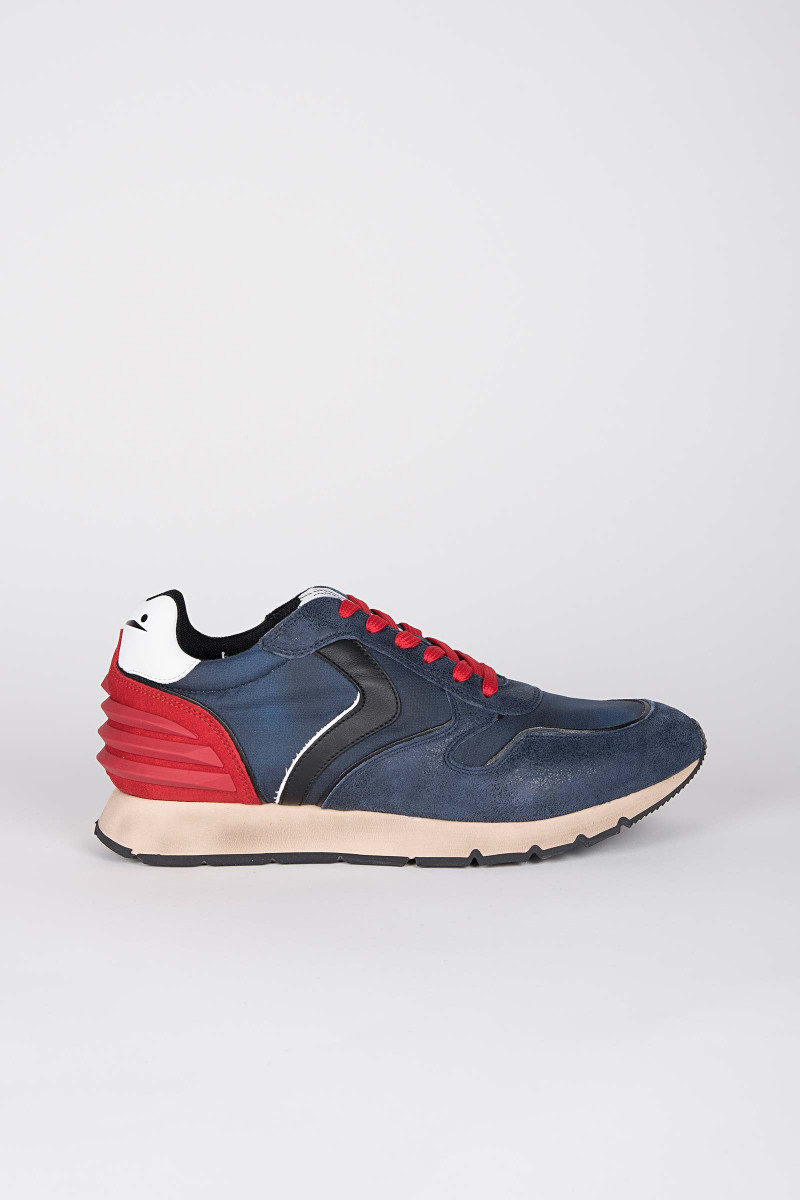 Liam Power Blue-Red Sneakers Eduardo & Elisa Rivera