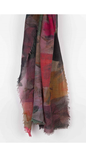 Multicolor Watercolor Scarf Elisa & Eduardo Rivera