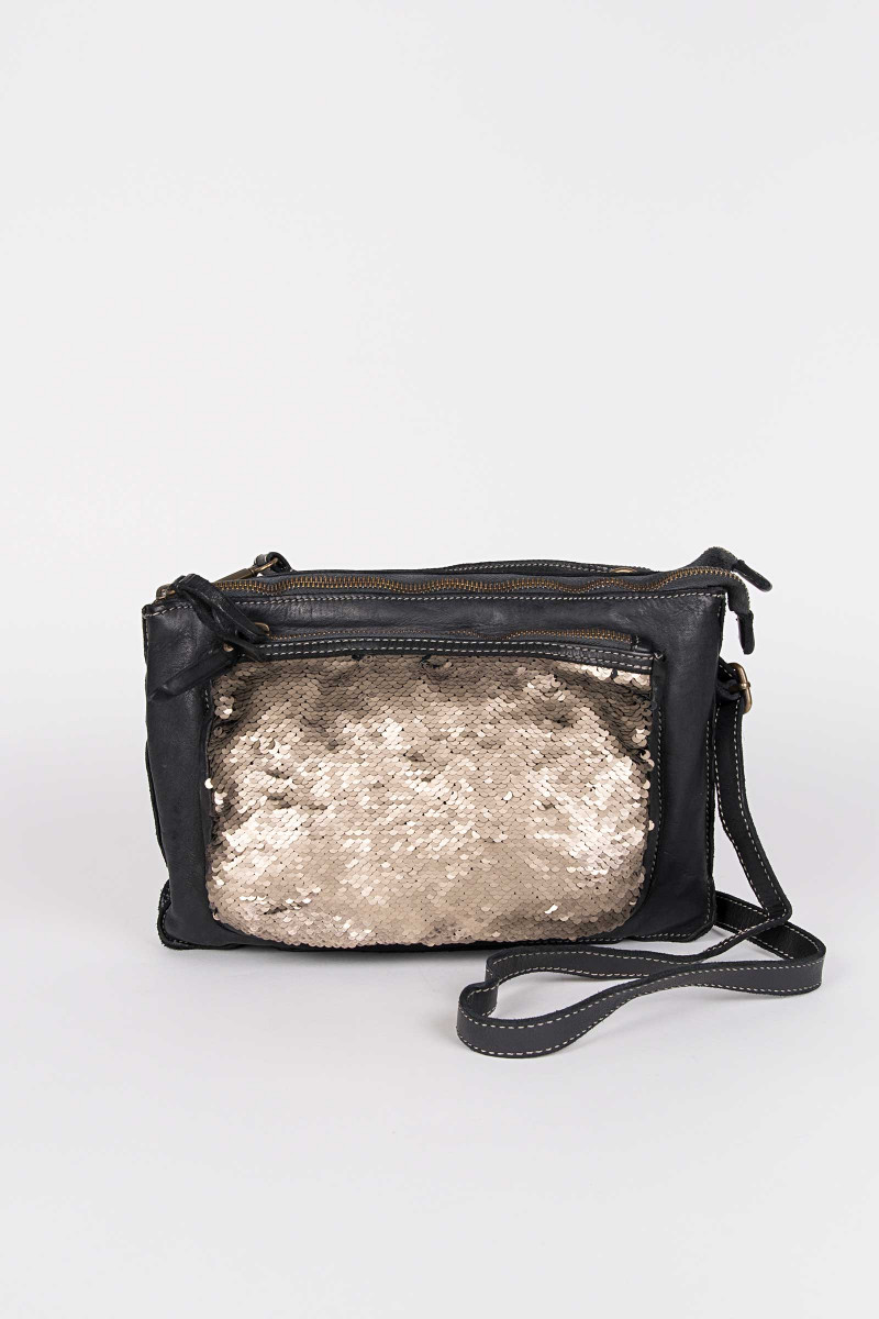 Black Sequins Bag .            Elias & Eduardo Rivera