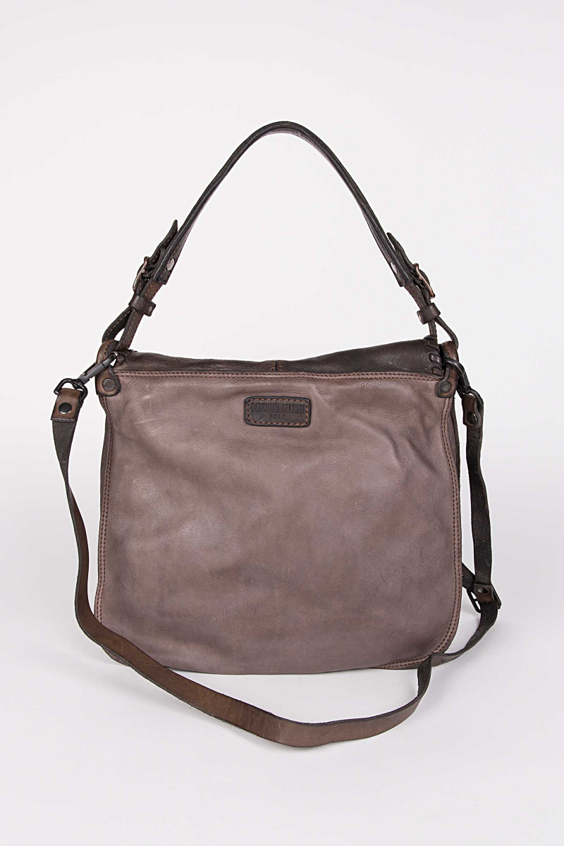 Lapel Shoulder Bag Chocolate