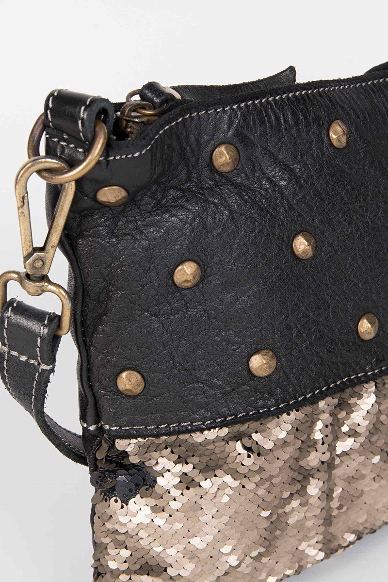 Black Tacks Shoulder Bag