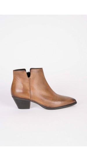 Brown Leather Ankle Boot   Elisa & Eduardo Rivera