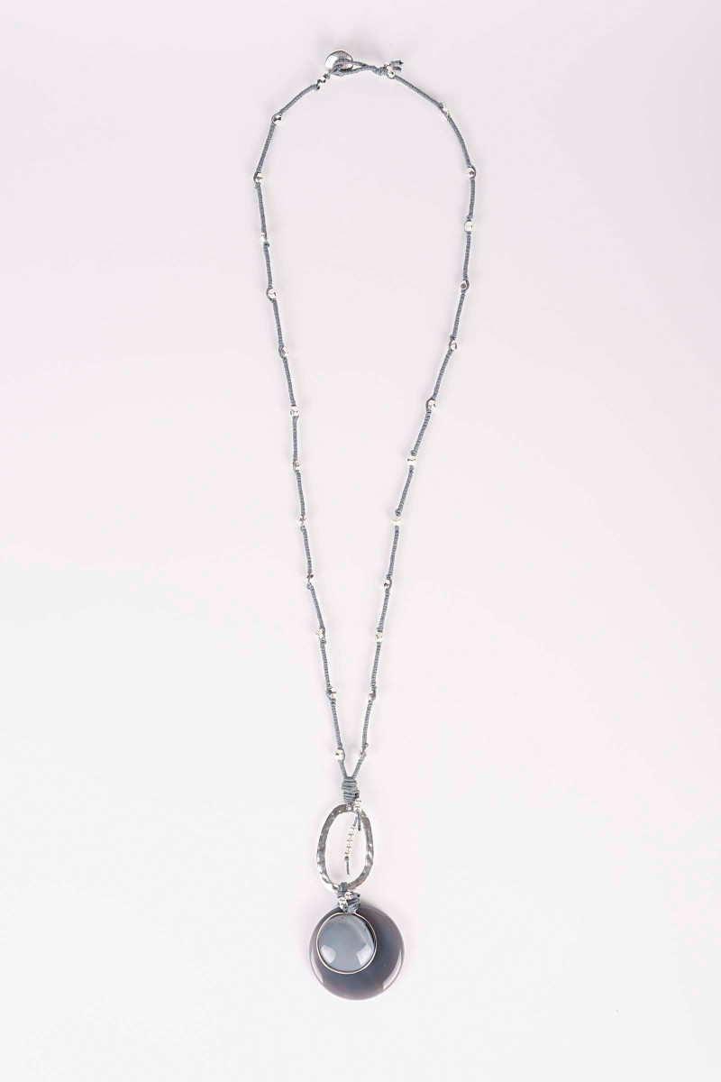 Gray Venus Necklace  Elisa & Eduardo Rivera