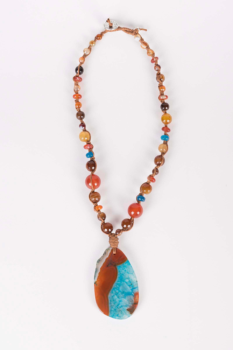 Orange Mars Necklace Elisa & Eduardo Rivera