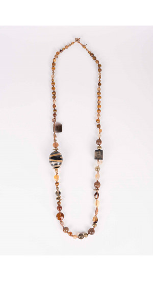 Brown Mercury Necklace Elisa & Eduardo Rivera