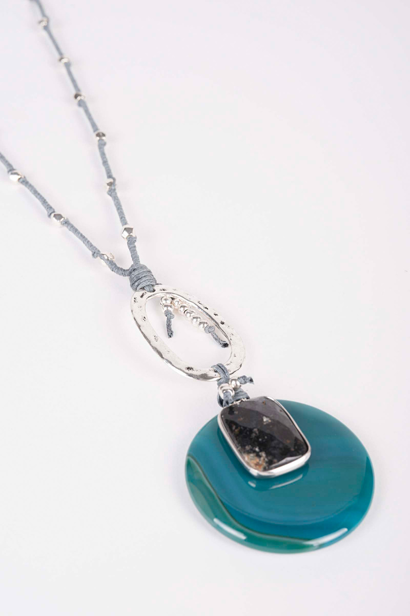 Venus Blue-Gray Necklace