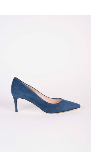 Blue Low Heel Pump Elisa & Eduardo Rivera