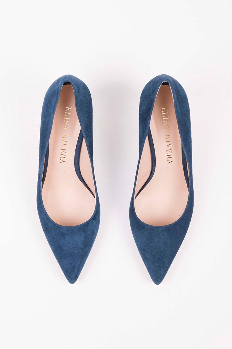 Blue Low Heel Pump
