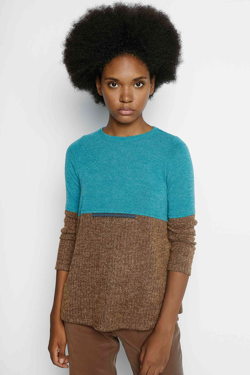 Emma Turquoise-Brown Sweater Elisa & Eduardo Rivera