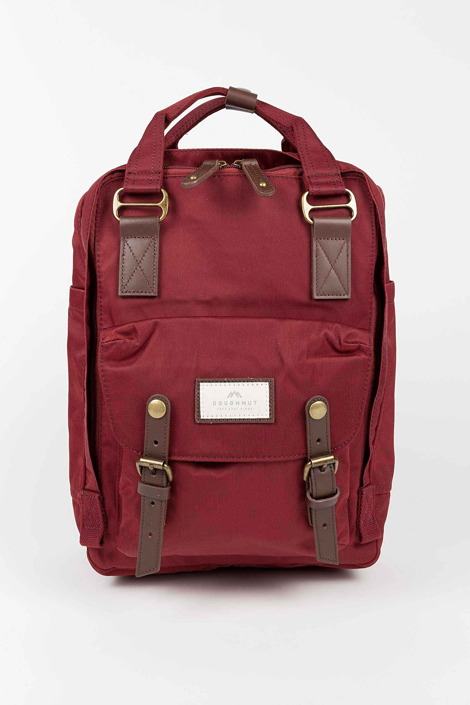 Burgundy Nylon Doughnut Backpack Eduardo & Elisa Rivera