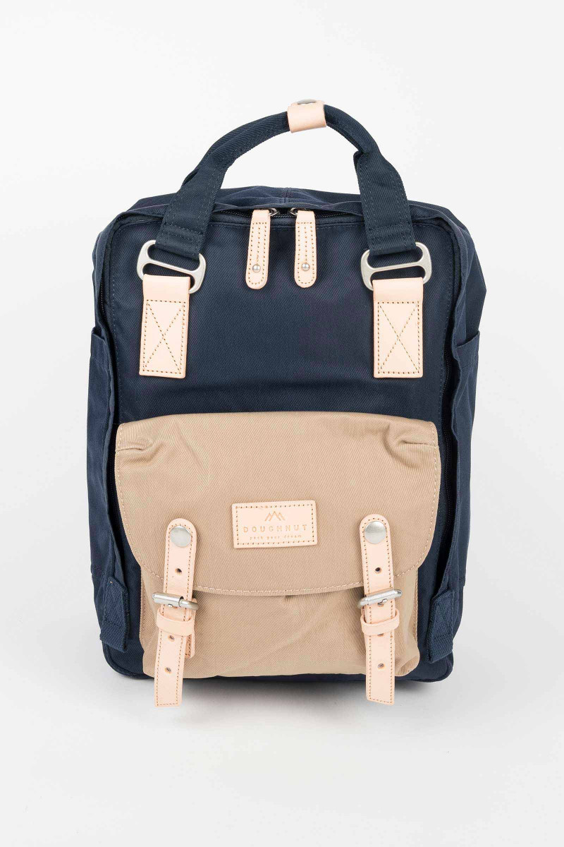 Blue-Cream Nylon Doughnut Backpack  Eduardo&Elisa Rivera
