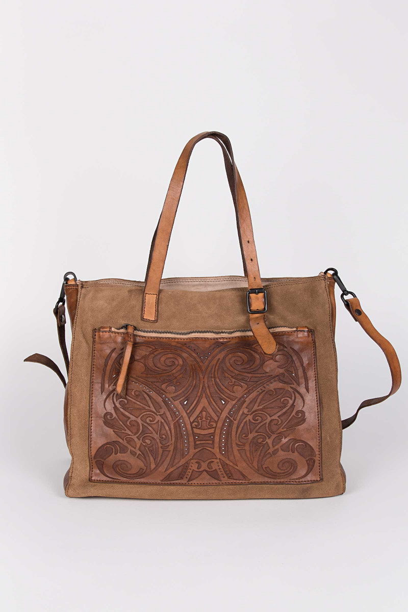 Brown Die Cut Bag Elisa & Eduardo Rivera