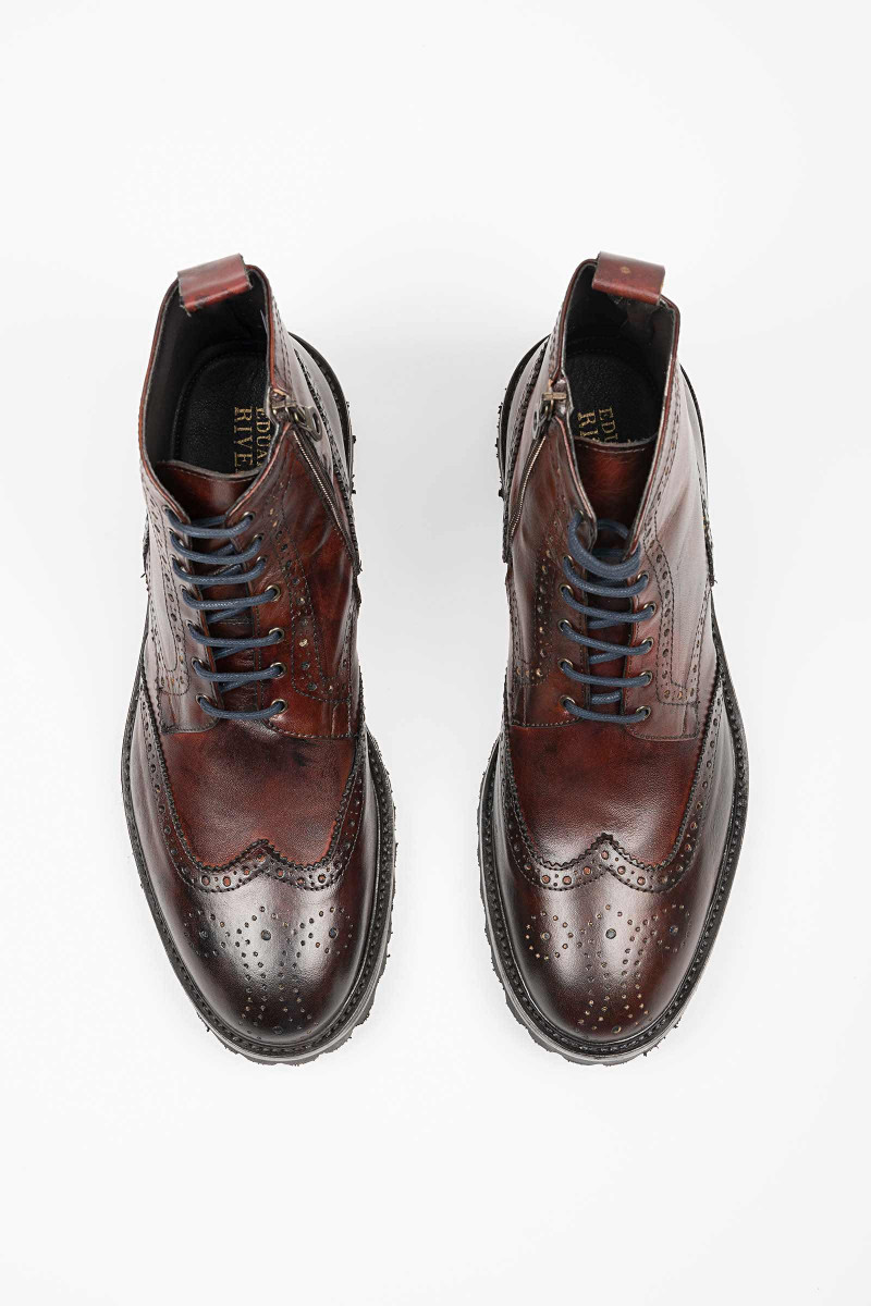 Oxford Boot Brown Leather