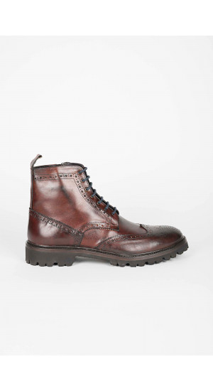 Oxford Boot Brown Leather Eduardo&Elisa