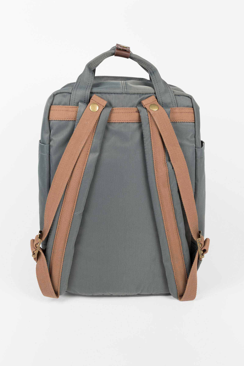 Gray Nylon Doughnut Backpack