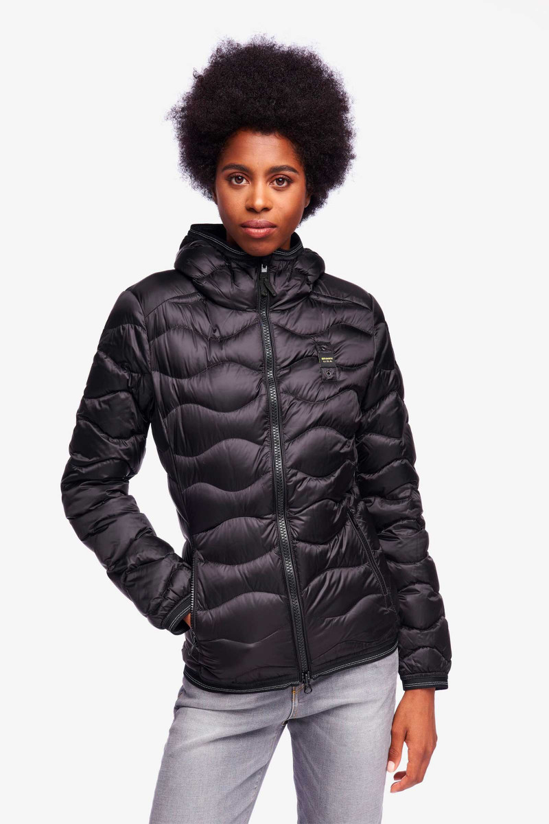 Black Blauer Kennedy Down Jacket Elisa & Eduardo Rivera