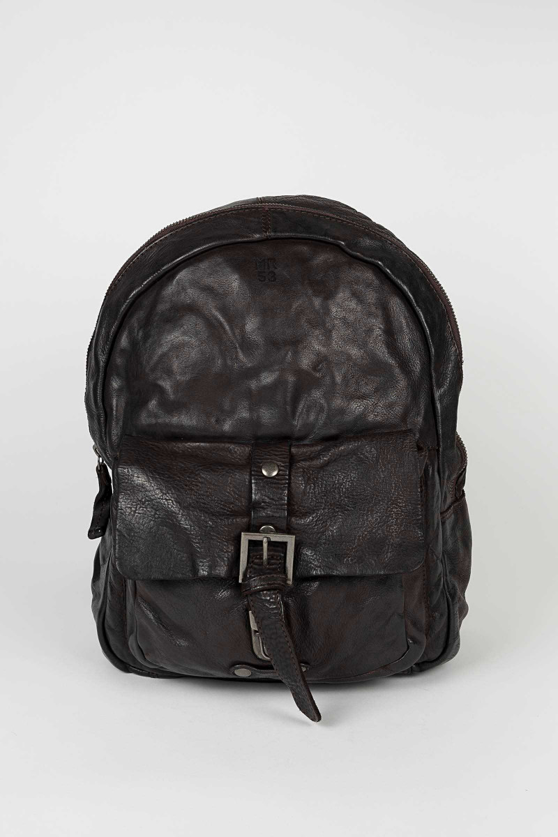 Brown Leather Backpack Minoronzoni Eduardo & Elisa Rivera