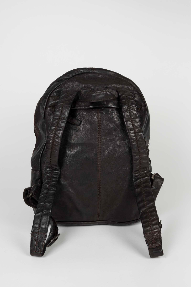 Brown Leather Backpack...