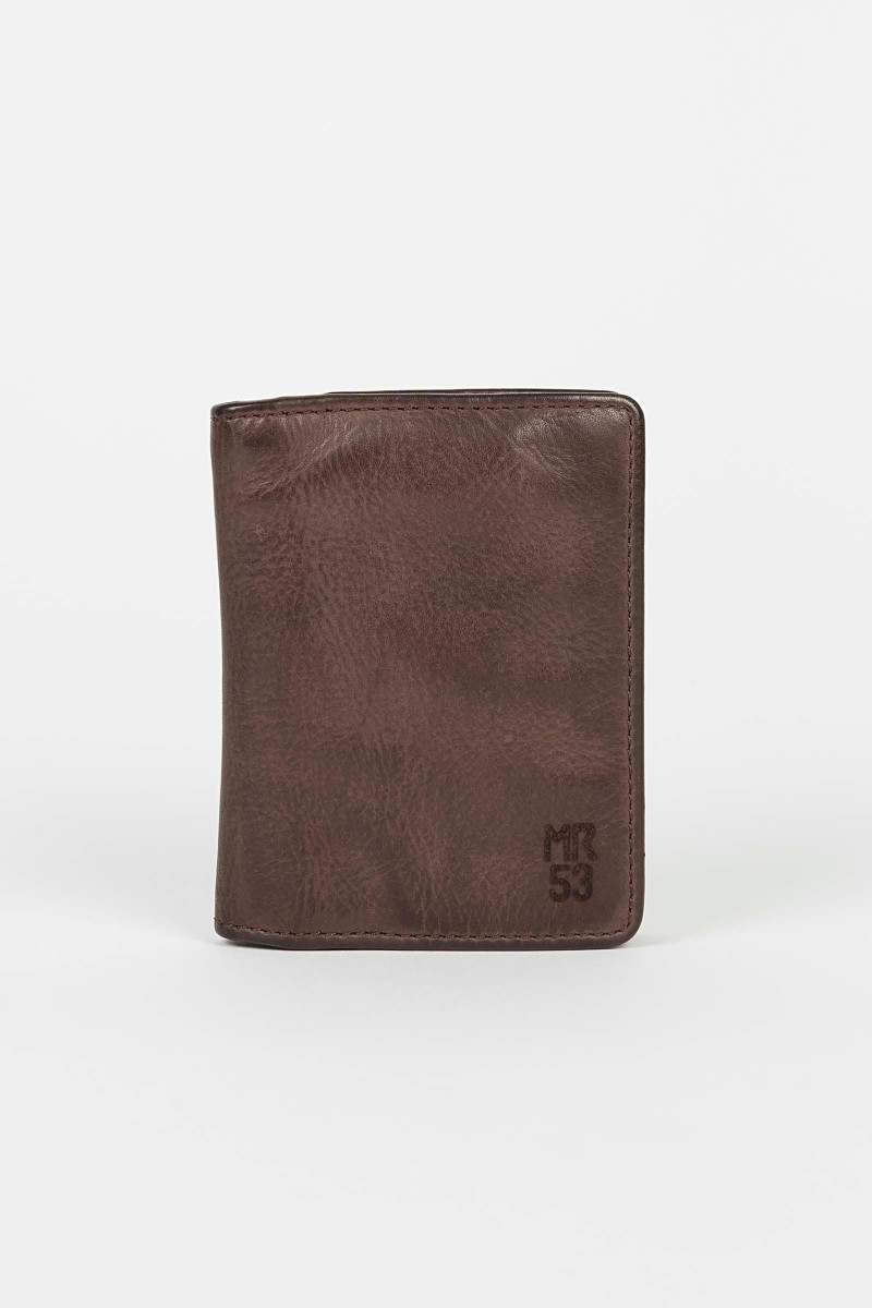 Brown Leather Wallet Eduardo & Elisa Rivera