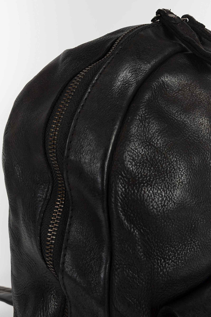 Black Leather Backpack...