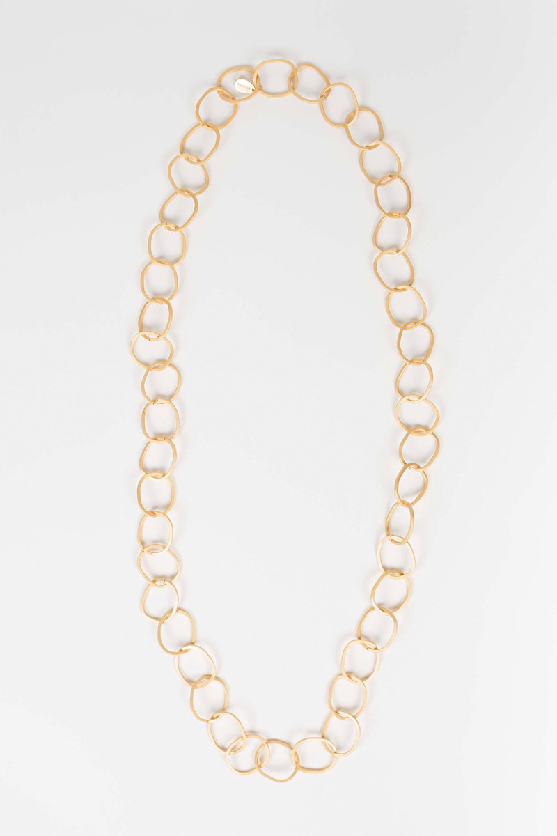Gold Link Chain Necklace Elisa & Eduardo Rivera