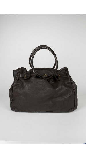 Brown Leather Travel Bag Eduardo & Elisa Rivera