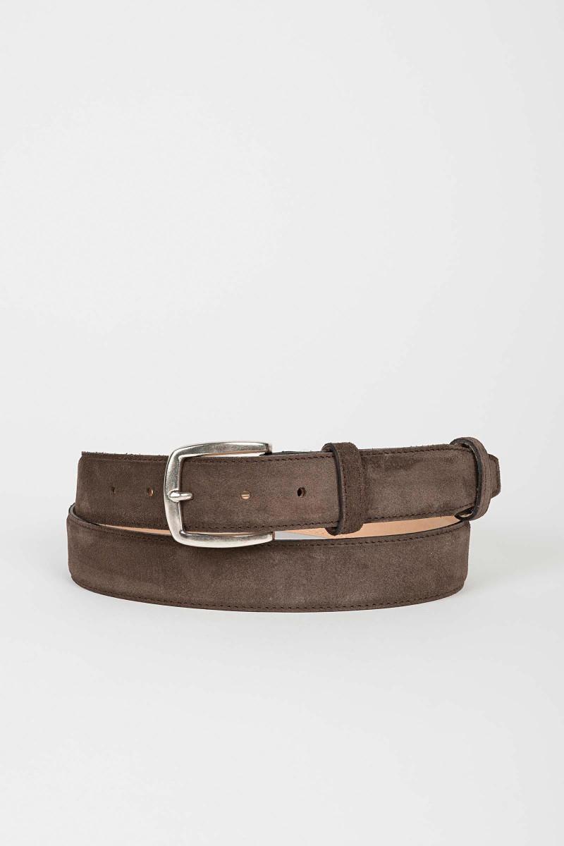 Brown Suede Belt Eduardo & Elisa Rivera