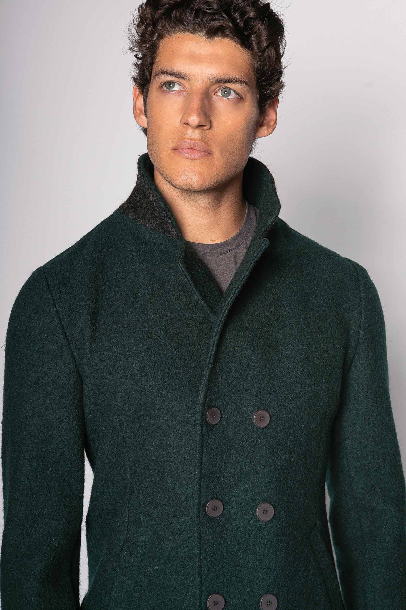Double-breasted Green Coat