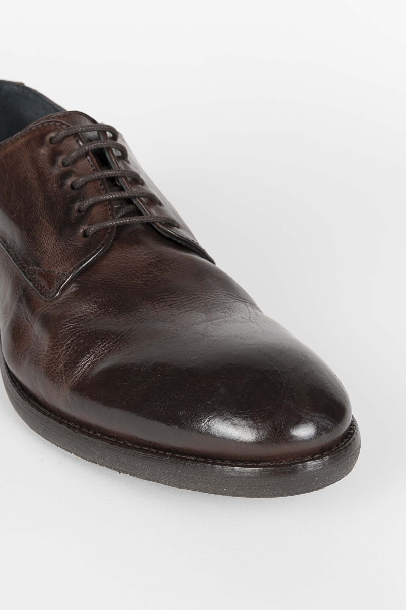 Dorsay Brown Leather Shoe