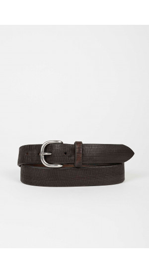 Brown Embossed Belt Eduardo & Elisa Rivera