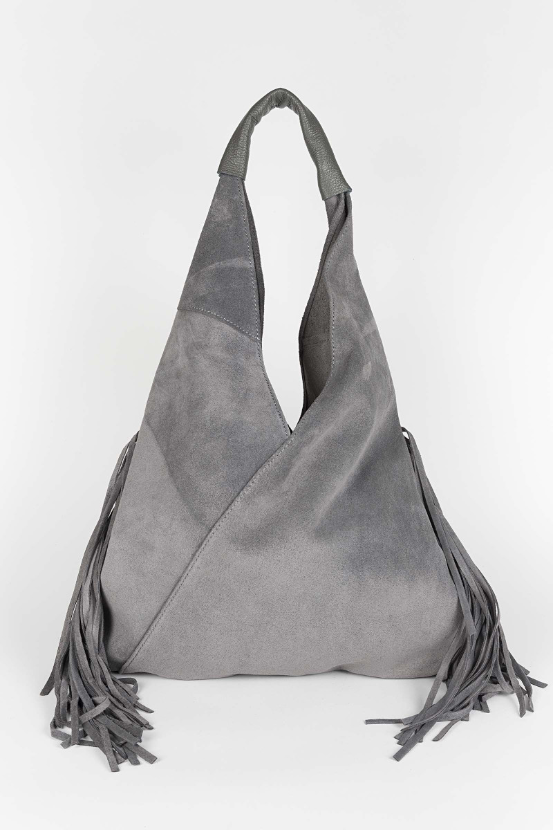 Gray Suede Bag Elisa & Eduardo Rivera